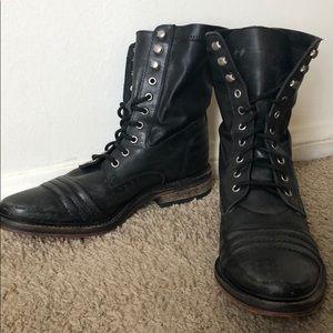 Free People Black Combat Boots